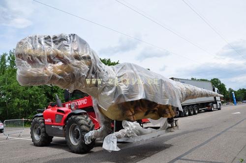 法国动物园恐龙展厅安装现场二