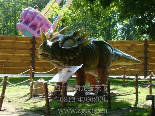 白俄罗斯游乐园恐龙主题展示