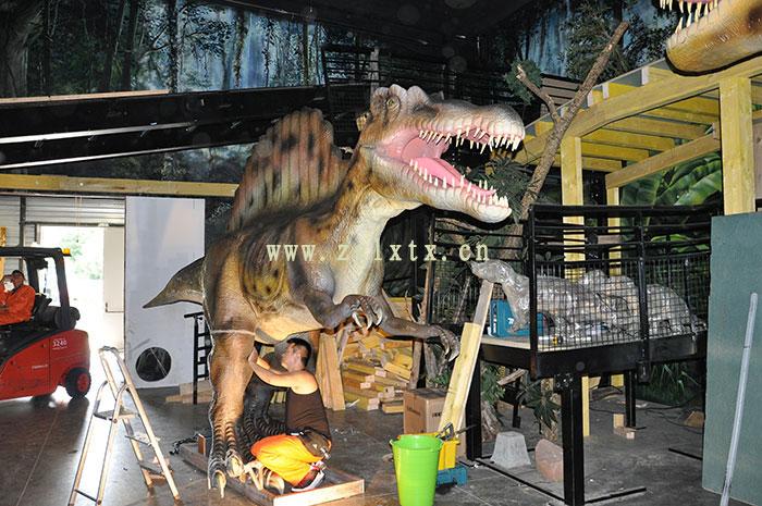 法国动物园恐龙展厅安装现场图十三