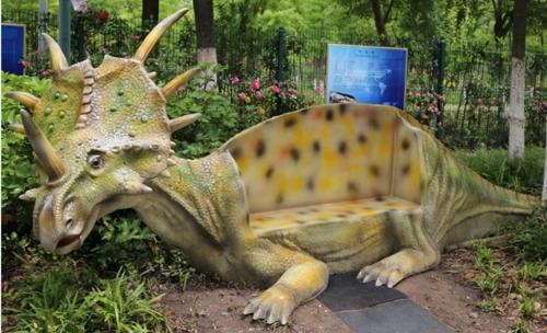 仿真恐龙休息座椅