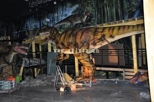 法国动物园恐龙展厅安装现场图四