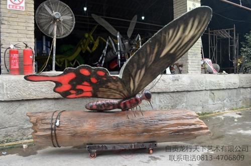 仿真昆虫蝴蝶和树